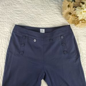 CAbi Mariner Pants Size 8 Navy Blue Sailor